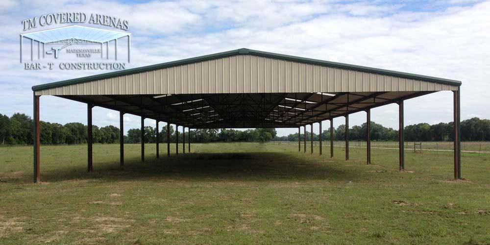 Covered Arenas for Riding, Farm and Commercial Use in Texas